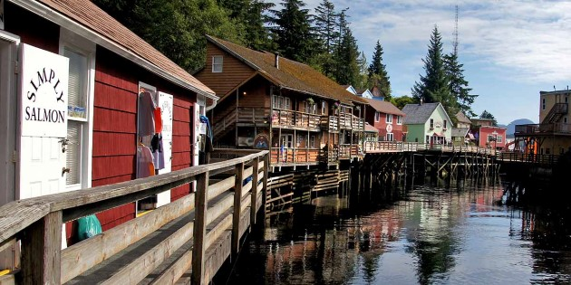 Antique boardwalk, Ketchikan Creek Street, Alaska