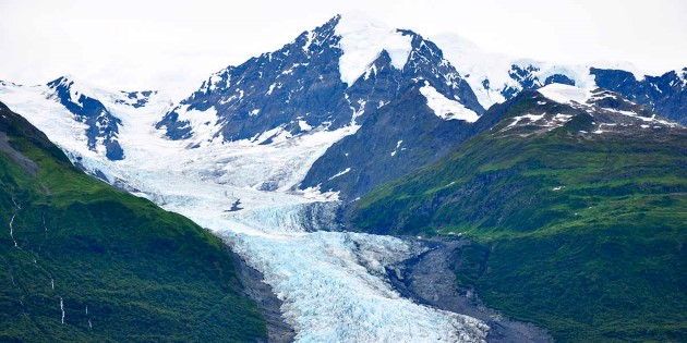 Less-visited College Fjord with glaciers