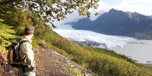 View of a glacier near Anchorage