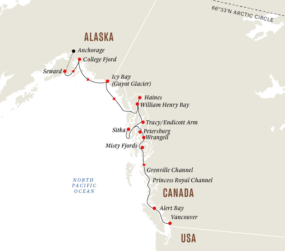 Alaska and British Columbia - Wilderness, Glaciers and Culture (Southbound) 2022