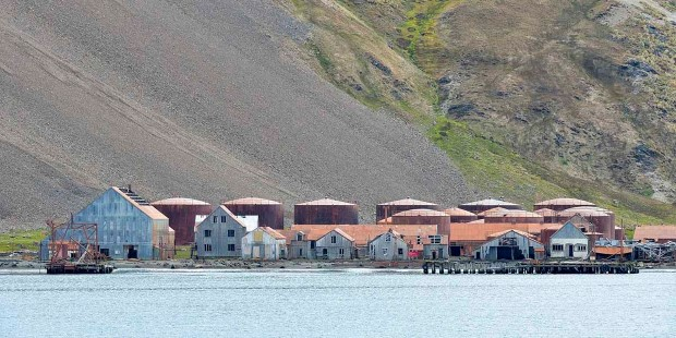 The settlement of Grytviken was the largest whaling station on South Georgia.