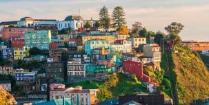 The UNESCO World Heritage city of Valparaiso, Chile