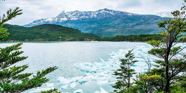 Glacier in the Bernardo O'Higgins National Park, Chile