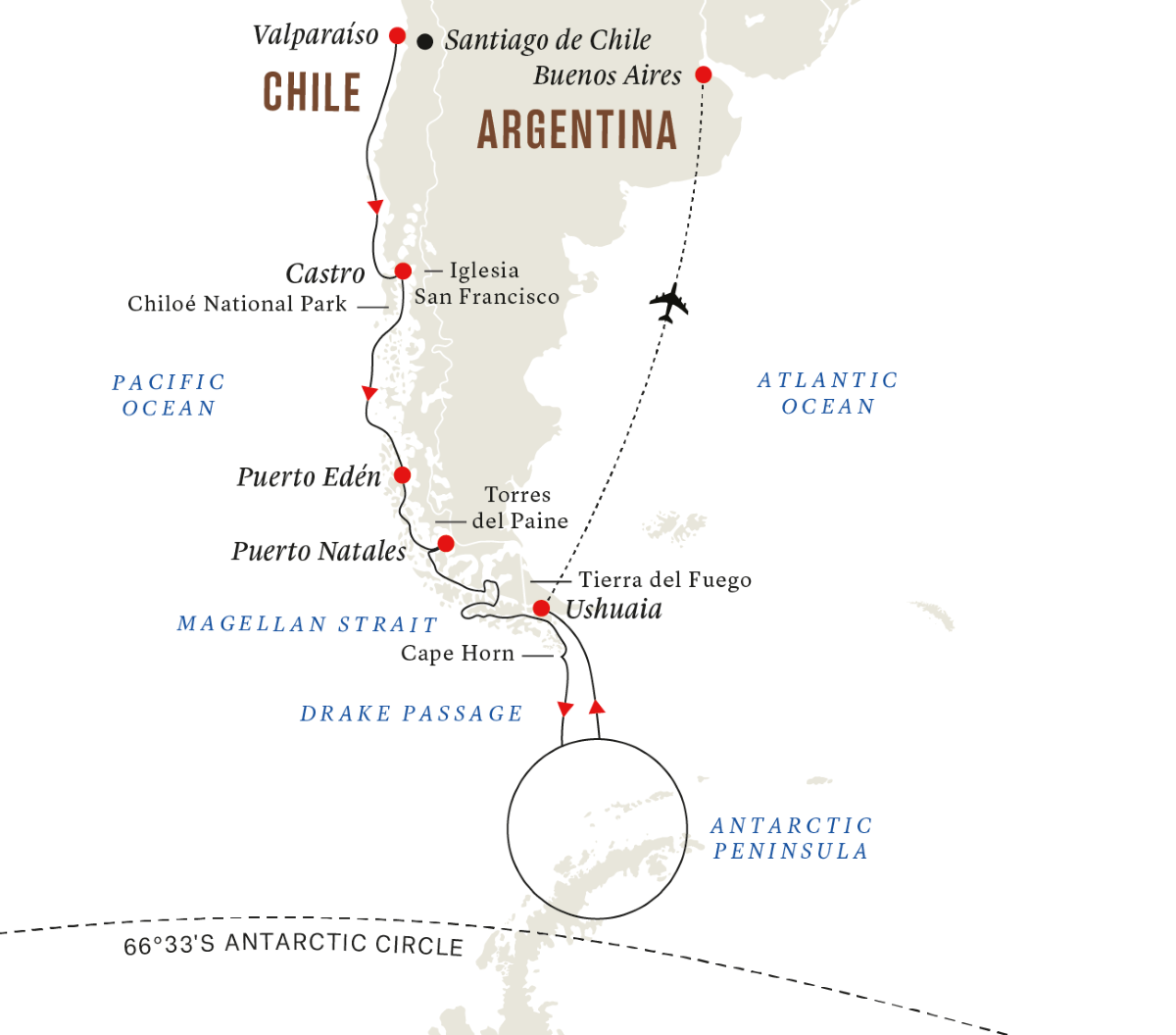 Antarctica & Patagonia Expedition (Southbound)