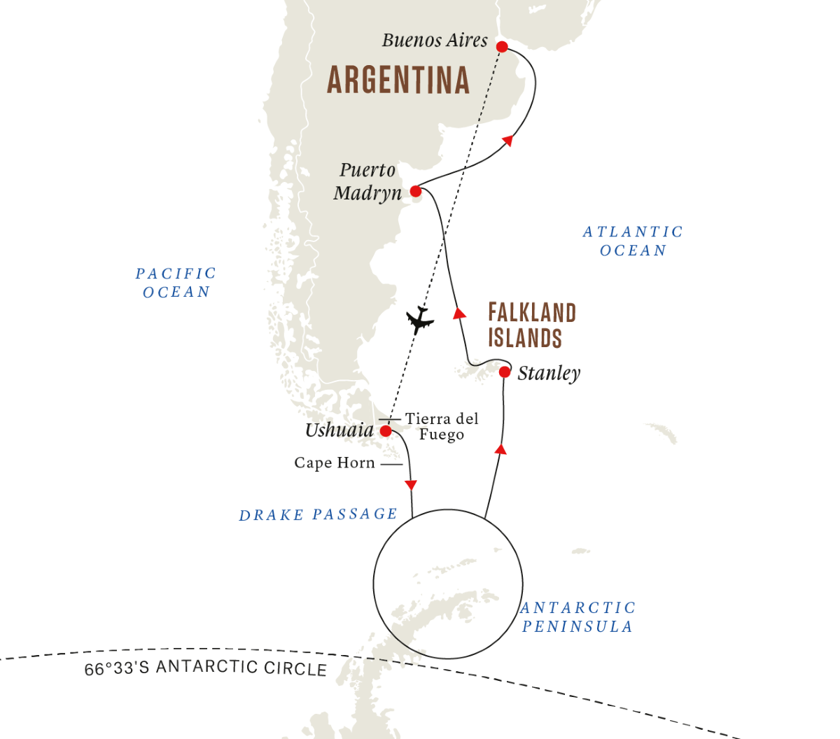 Antarctica & Falklands Expedition (Northbound)