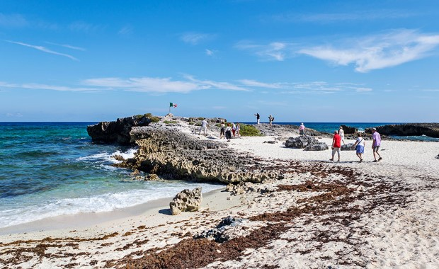 Explore the beaches of Cozumel.