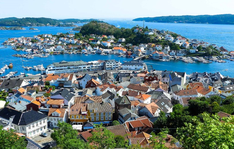 Wonderful Kragerø with charming narrow streets with art galleries and charming cafes.