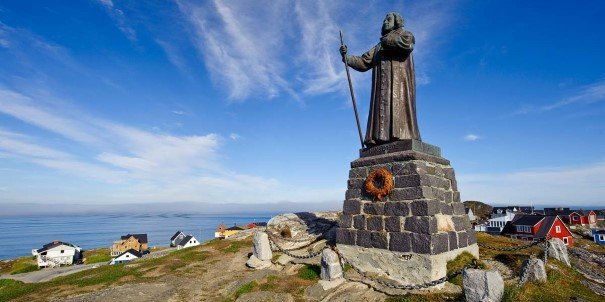 Statue of the missionary Hans Egede, Nuuk, Greenland