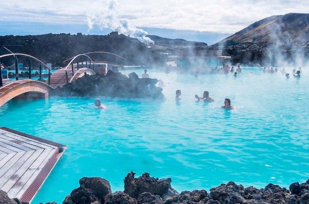 The famous Blue Lagoon near Reykjavik