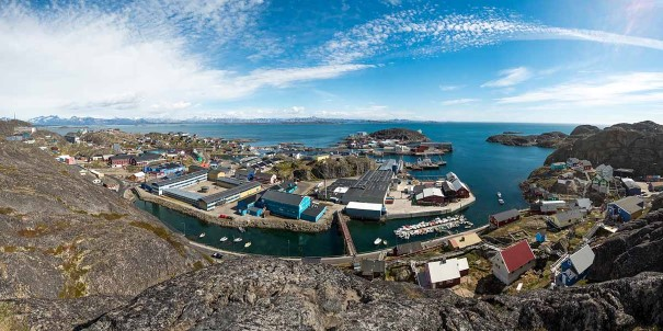 "View of Maniitsoq, ""The Venice of Greenland""."