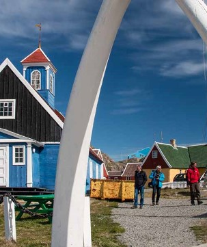 Take a closer look at the colourful houses in Sisimiut on an optional excursion.