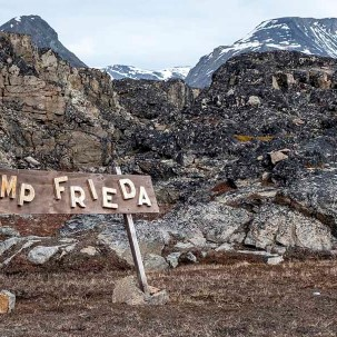 Camp Frieda, named after Hurtigruten's very own Expedition Team member Friederike Bronny.