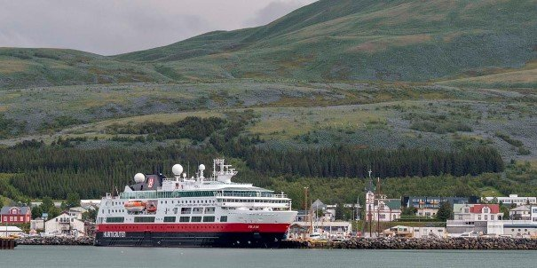 MS Fram in Husavik, Iceland