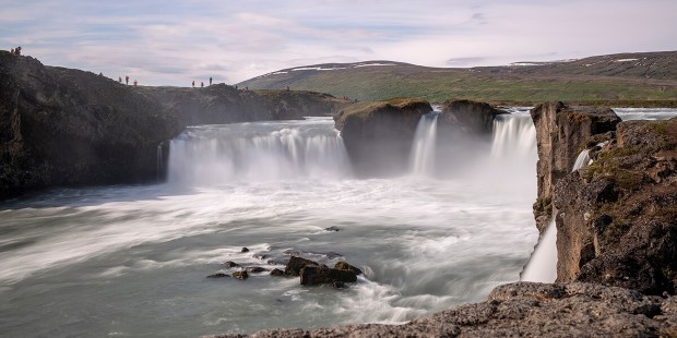 The spectacular Goðafoss waterfall, Akureyri, Iceland
