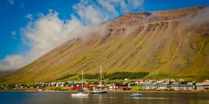 Flanked by towering mountains, Ísafjörður is a nearly perfect natural harbour.