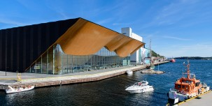 Kilden concert hall and theatre by the sea, Kristiansand, Norway