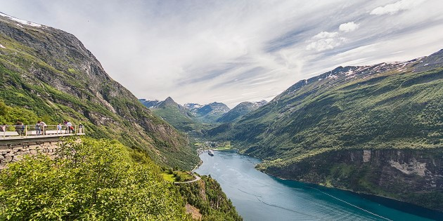 Stunning aerial view of the Geirangerfjord, Norway