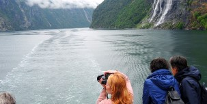 Famous Geirangerfjord is a UNESCO World Heritage Site.