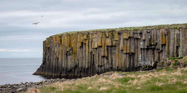 Monumental cliffs, Grimsey, Iceland