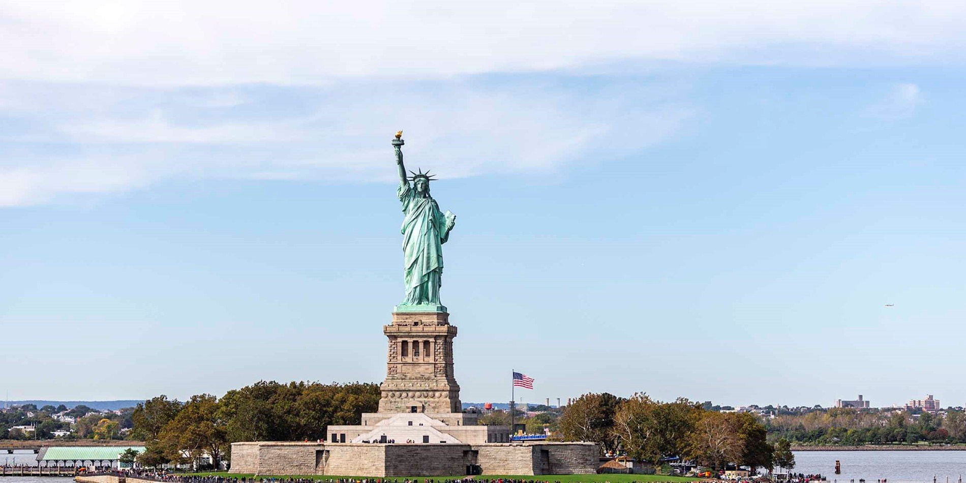 View of the Statue of Liberty, New York City