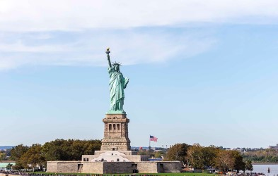 This expedition cruise ends with a dramatic sailing past the Statue of Liberty and into New York.