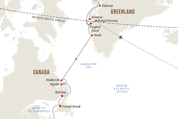 MAP: Greenland and Baffin Island – The Ultimate Arctic Island Exploration