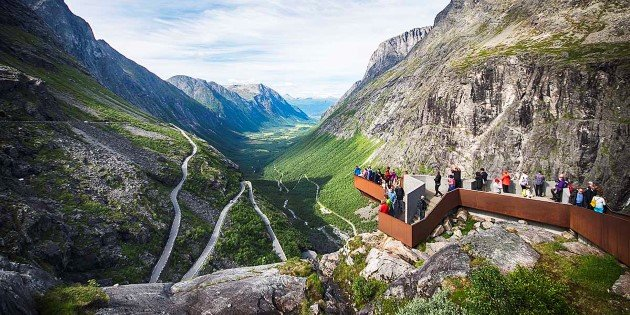 View of the Trollstigen scenic route