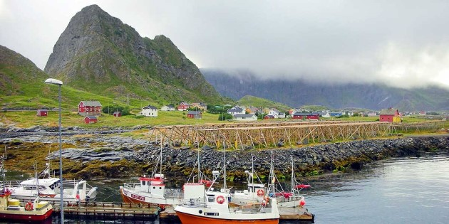 View of quaint Værøy