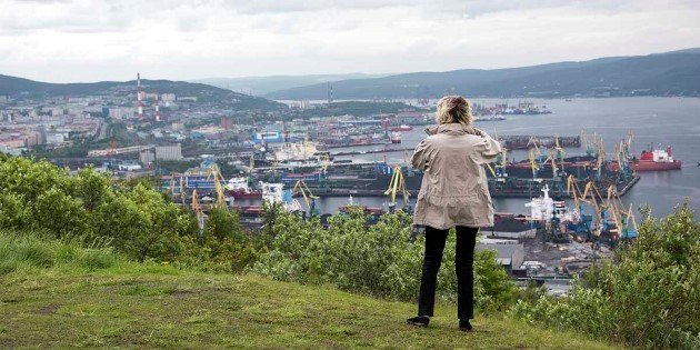 City view from Alyosha Monument, Murmansk
