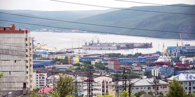 View of Murmansk, Russia
