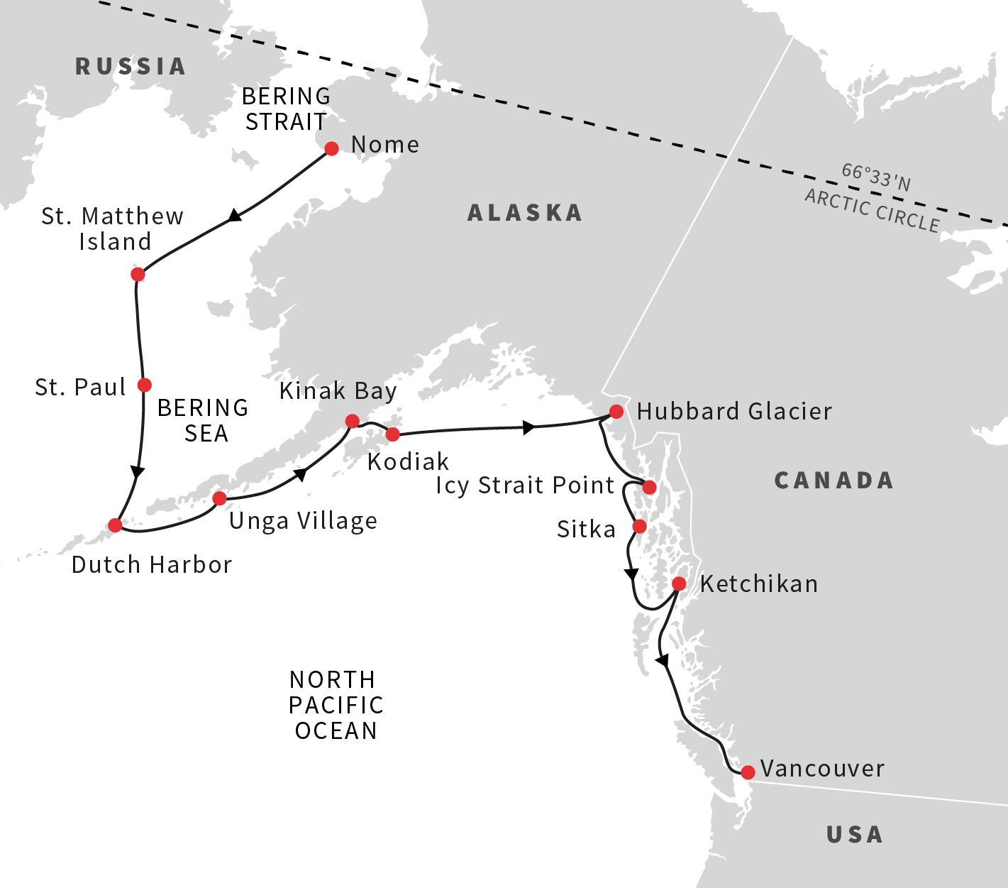 Fox Island Alaska Map.Cruise To Alaska And Canada The Aleutian Islands And Brown Bears