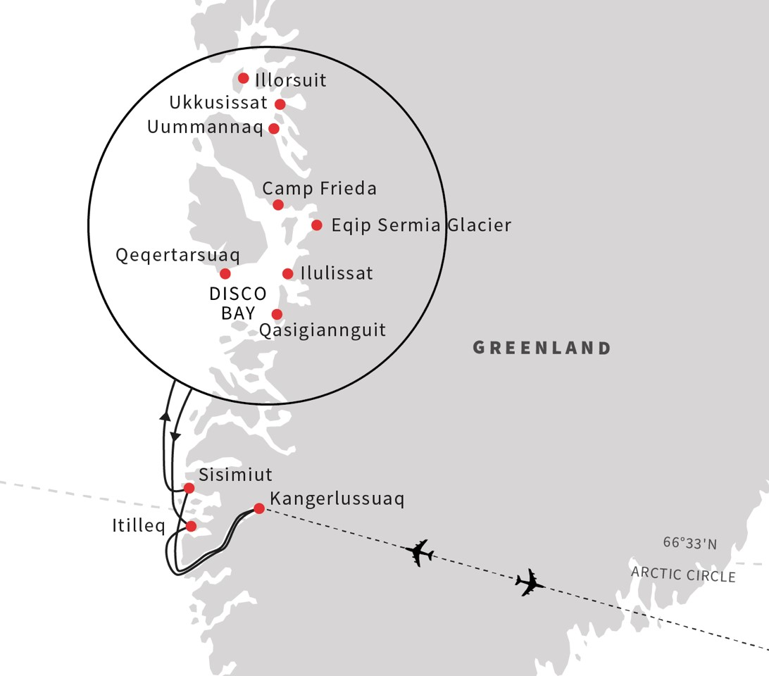 Greenland cruise Disko Bay The Heart of Greenland July 2019