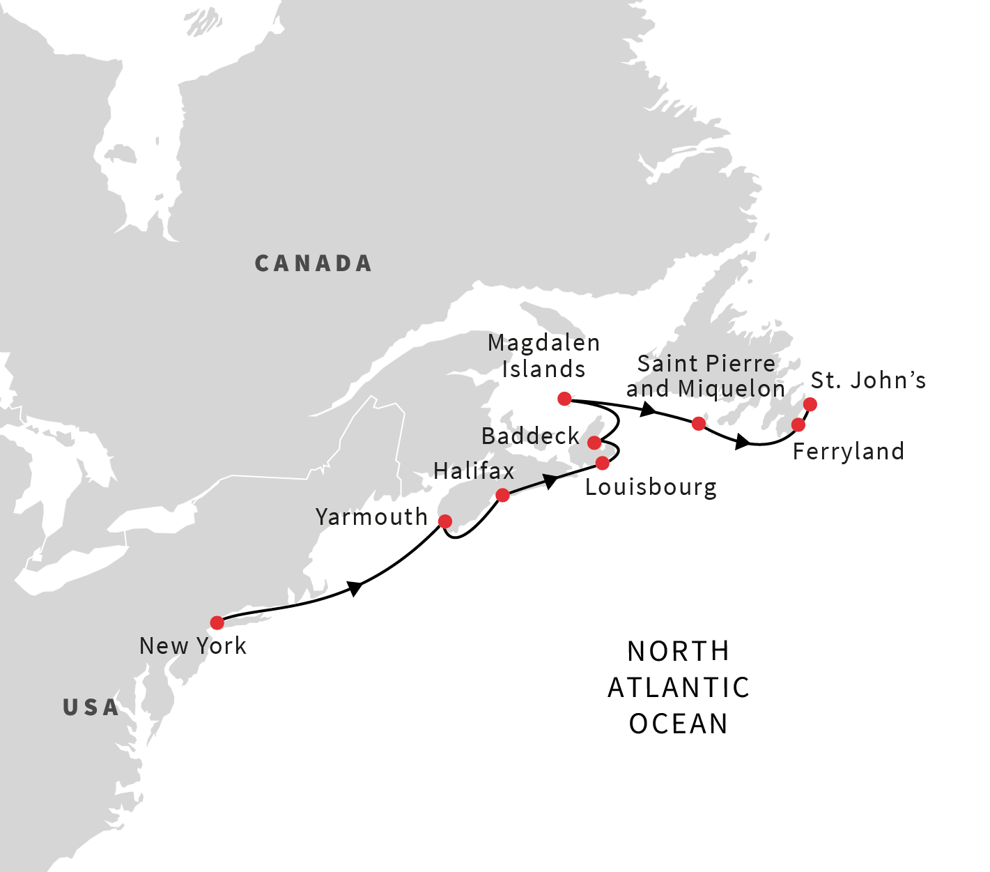 Cruise From New York, USA, To St. John's, Canada (Spring