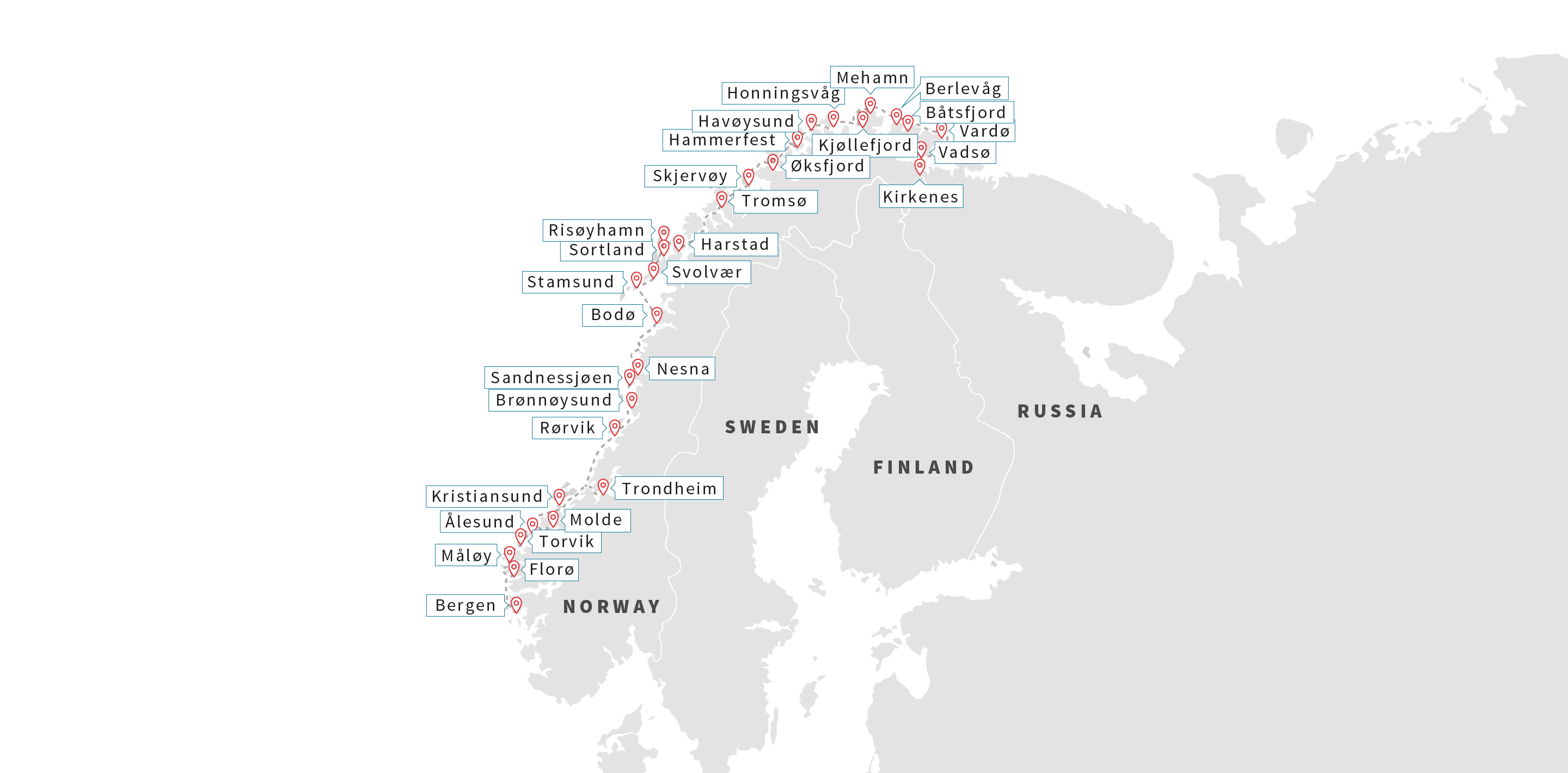 Norway Cruises Arctic Highlights With Flights Hurtigruten UK - Norway map highlights