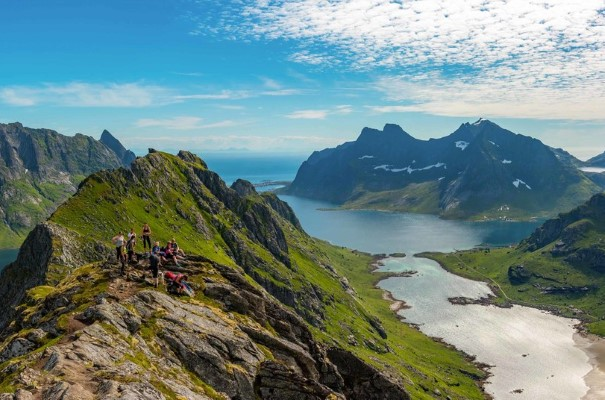 Incredible views from the mountain tops of Lofoten