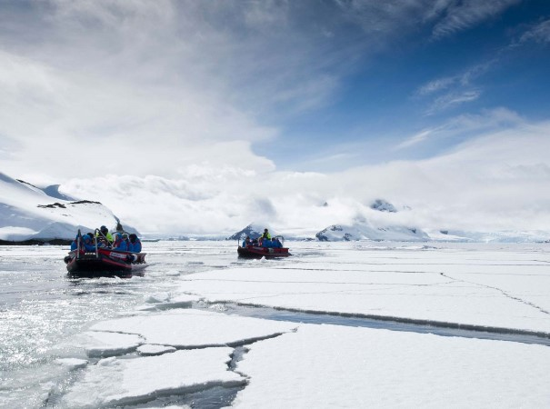 The Expedition Team will seize opportunities to take you ice cruising at various landing sites in Antarctica, depending on the ice and wind conditions.