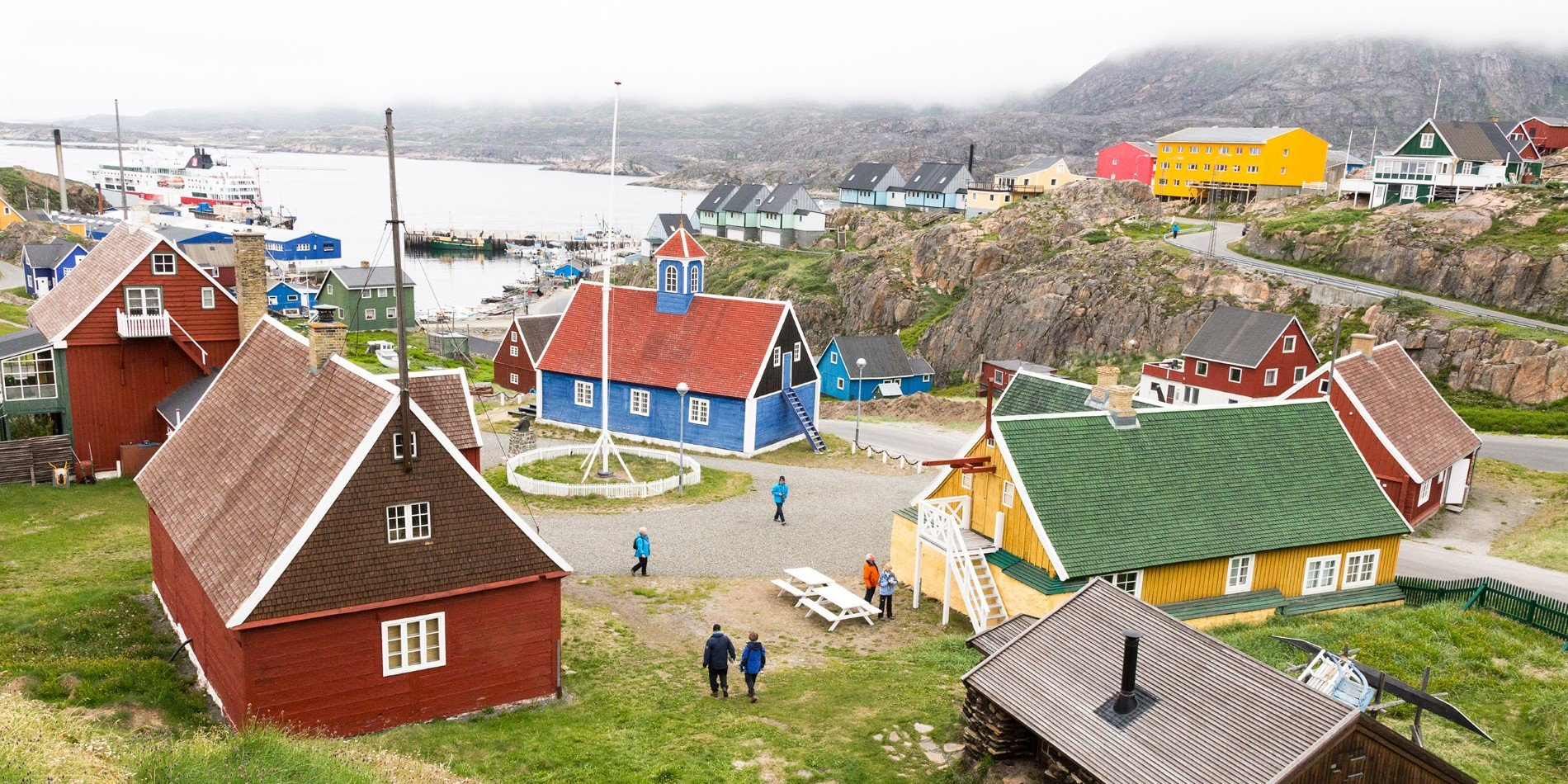 View over Sisimiut, Greenland