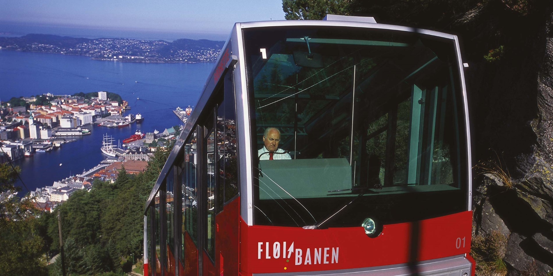 Ride the Fløibanen funicular to Mount Fløien and discover Bergen's mountains