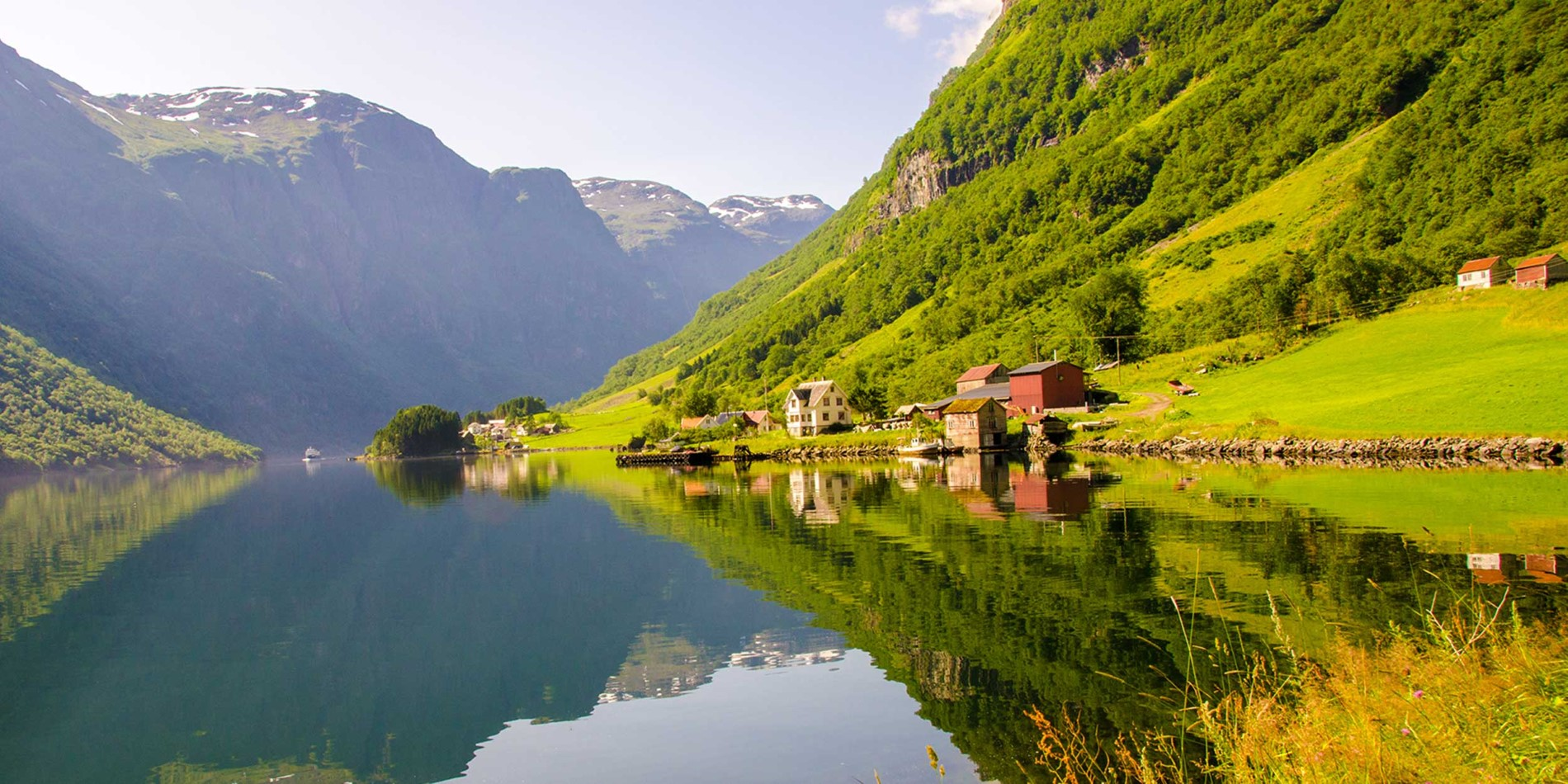 Complement your Hurtigruten cruise with Norway in a Nutshell tour featuring Naeroyfjord