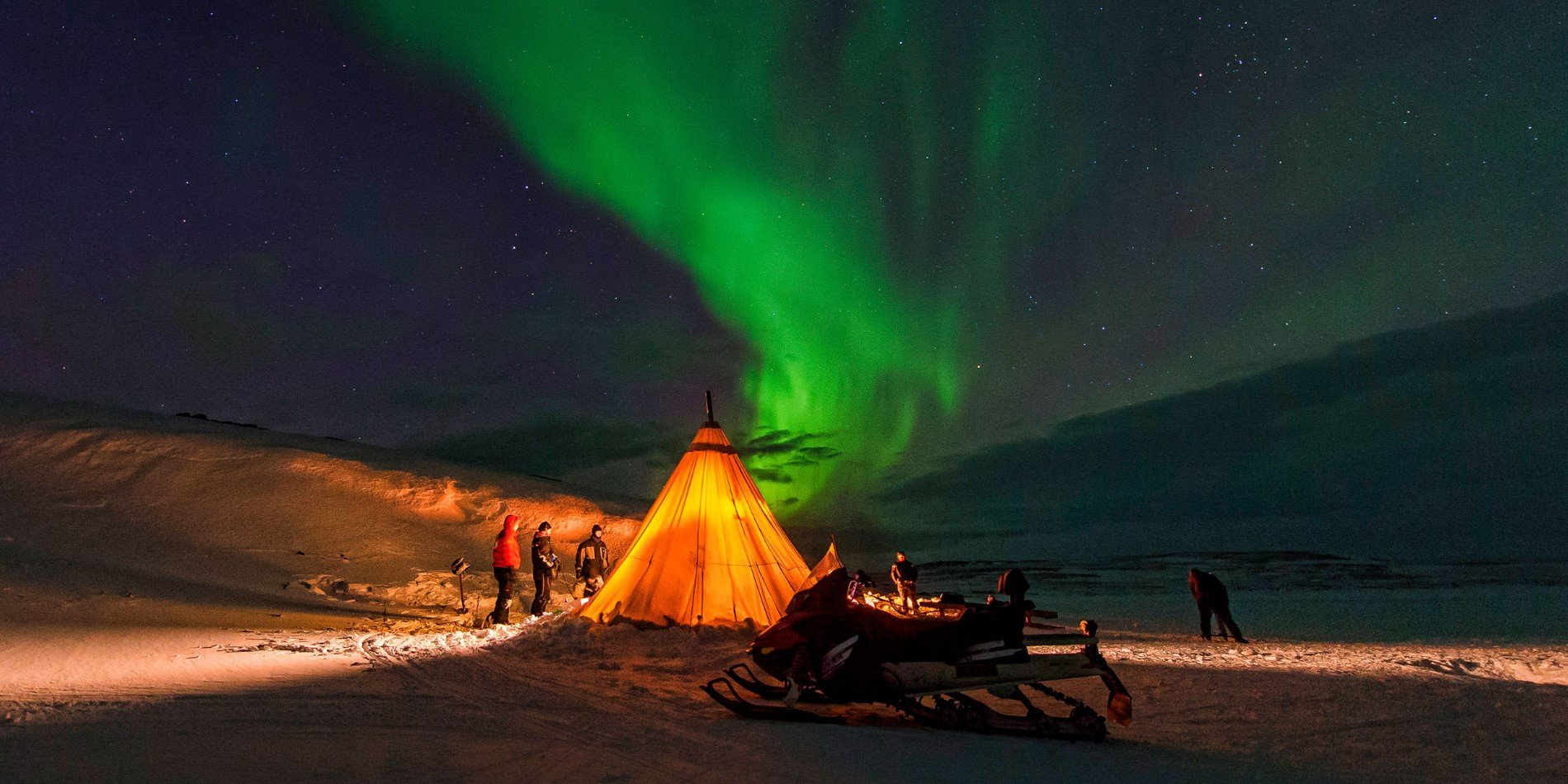 There are great chances of seeing the Northern Lights north of the Polar Circle