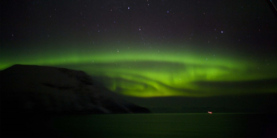 The northern lights putting on a show in Hammerfest, Norway
