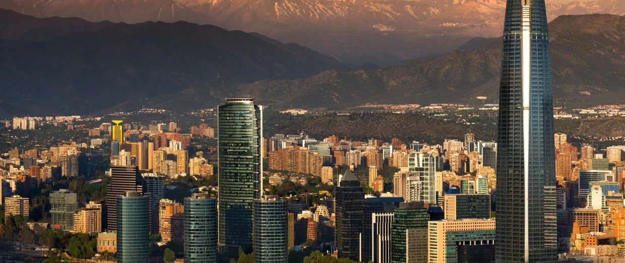 Santiago and the Andes Mountains
