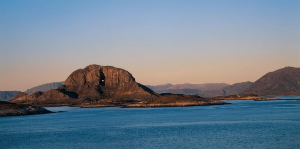 Torghatten, the mountain with a hole.