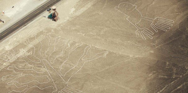 The famous and mysterious Nazca Lines and geoglyphs.
