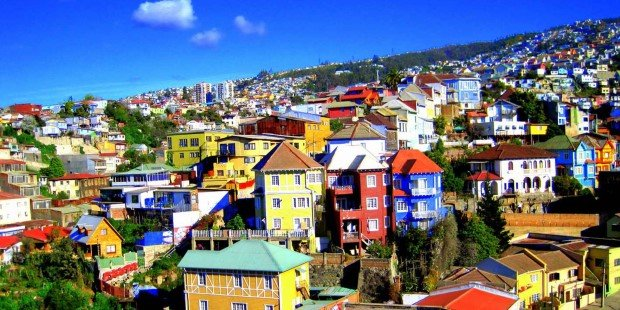 Colourful Valparaíso in Chile.
