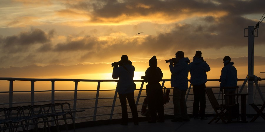 Catch beautiful sunsets with our professional expedition photographers.