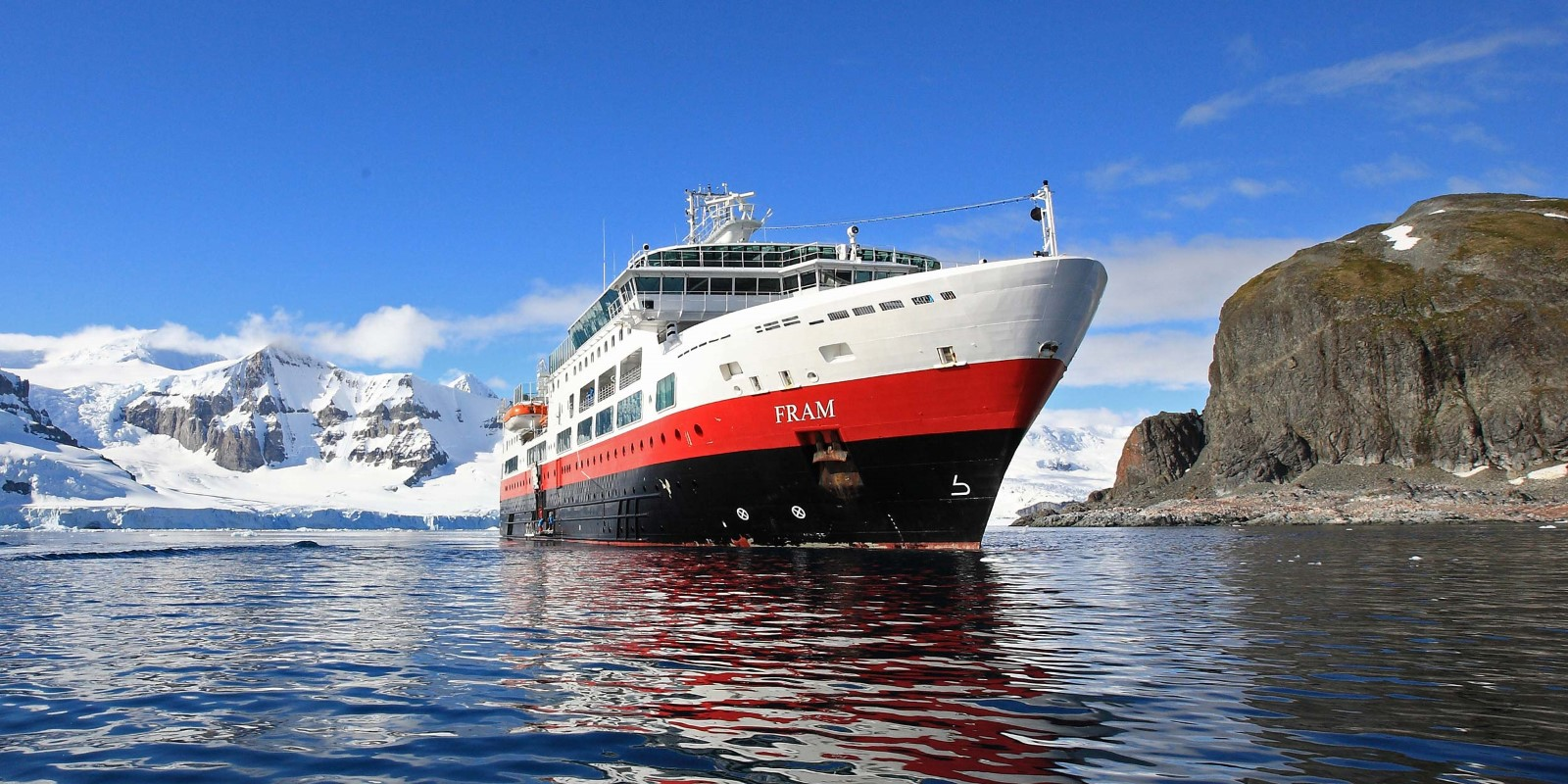 MS Fram in Antarctica