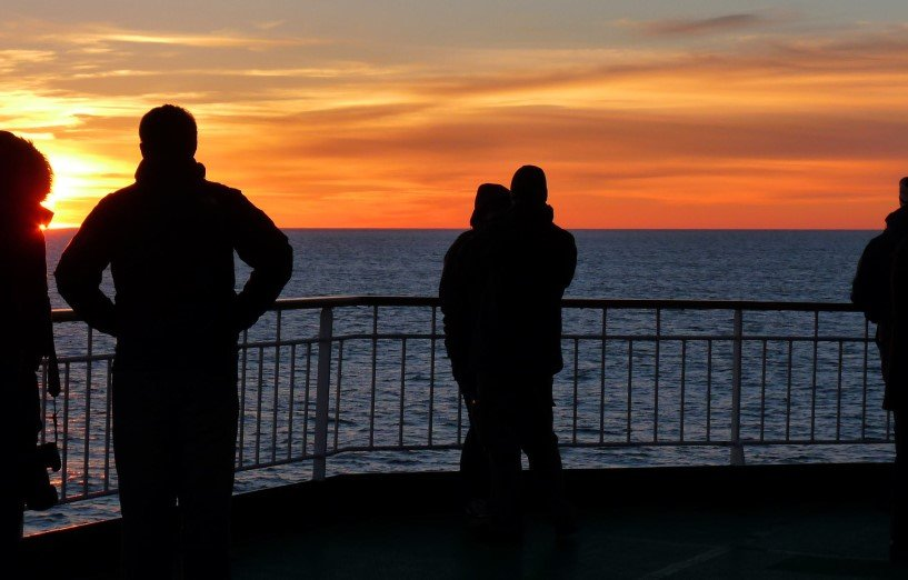 Enjoy romantic sunsets on board MS Kong Harald.