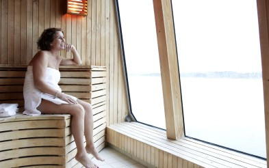 On board MS Midnatsol can enjoy a sauna with glorious sea views.