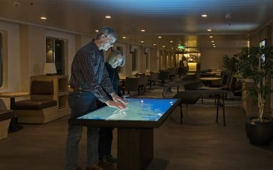 Explore your destinations with the interactive table on MS Richard With